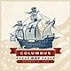Vintage Columbus Day Label - GraphicRiver Item for Sale