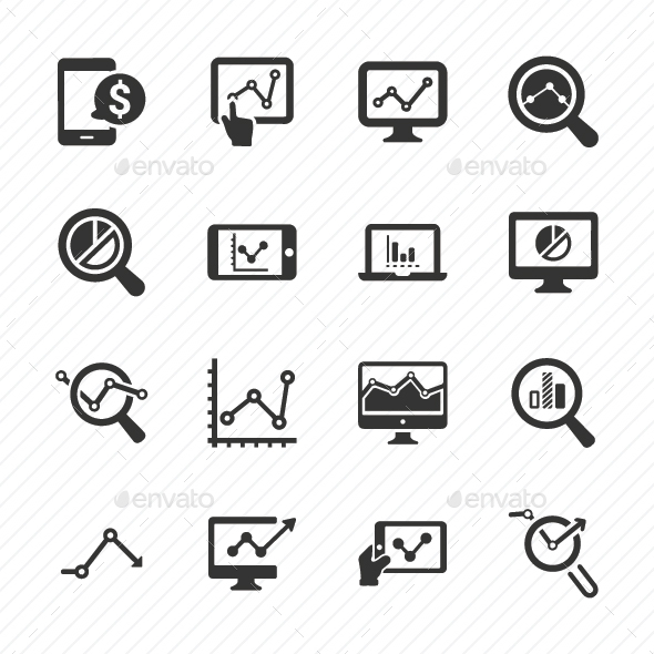 Marketing Research Icons - Gray Version
