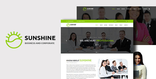 Sunshine - Best Corporate & Business WordPress Theme