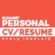 Elegant - Personal CV/Resume Portfolio HTML5 Template - ThemeForest Item for Sale