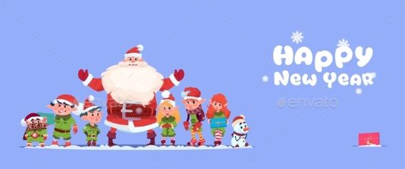 Santa Claus with Elves