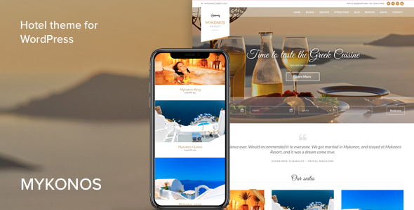 Mykonos Resort - Hotel Theme For WordPress