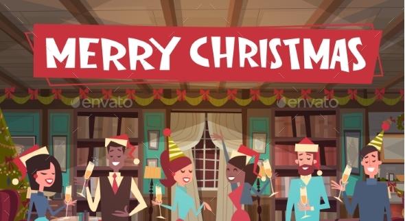 People Celebrate Merry Christmas