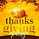 Thanksgiving Party flyer - GraphicRiver Item for Sale