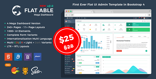 Flat Able - Bootstrap 4 Admin Template v2.0