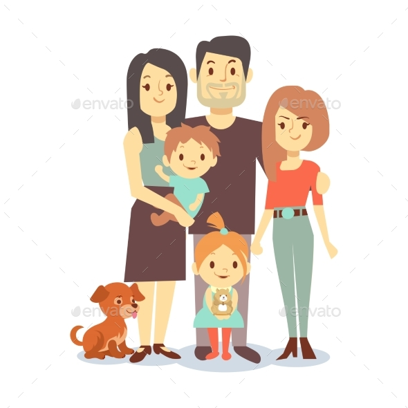 Flat Family with Pets