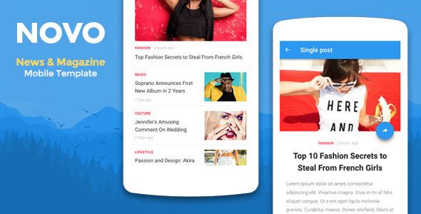 Novo - News & Magazine Mobile Template