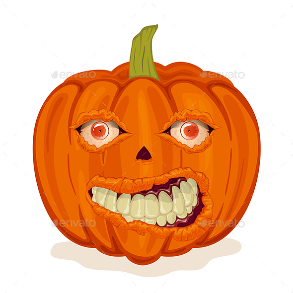 Pumpkin with Smile and Eyes