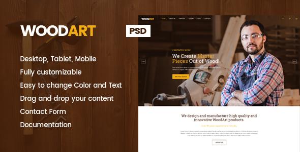 WoodArt - Carpenter PSD Template