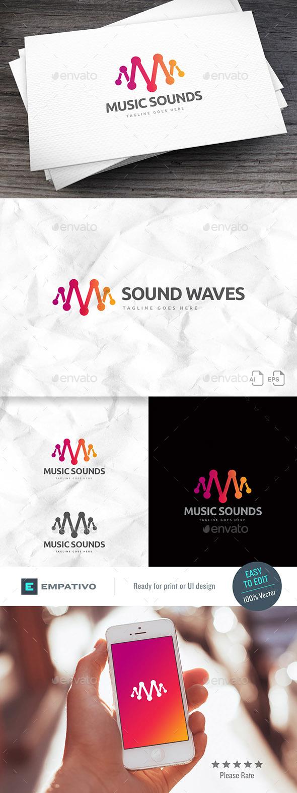 Music Sounds Logo Template