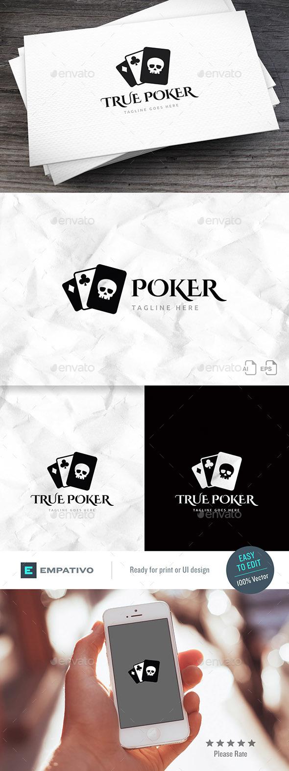 True Poker Logo Template