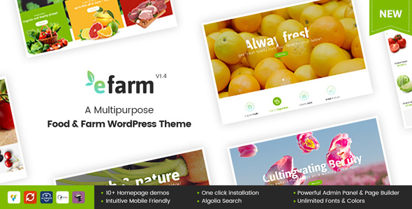 eFarm - A Multipurpose Food & Farm WordPress Theme
