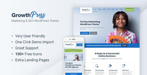 GrowthPress - Marketing and SEO WordPress Theme