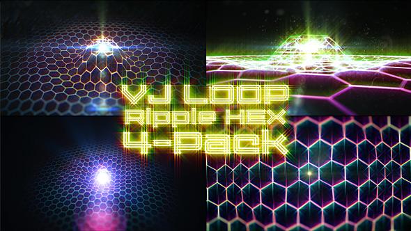 VJ Loop Ripple Hex 4-Pack