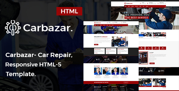 Carbazar - Auto Mechanic & Car Repair HTML5 Template.