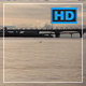 Calm Wavy Surface Bridges Across the Pond with Running Cars Shoreline Cityscape - VideoHive Item for Sale