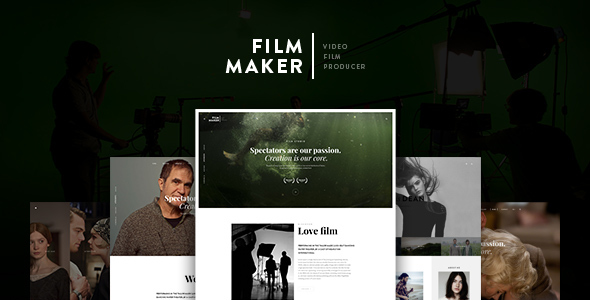 FilmMaker Drupal 8 Theme Movie Production - Video Blogger - Creative Agency