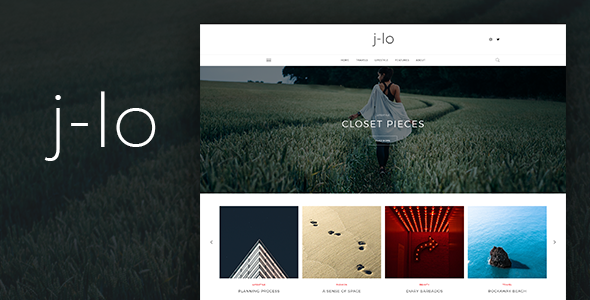 J-lo - Elegant Blogging PSD Template