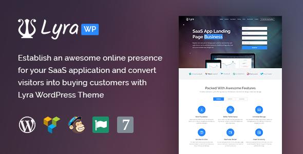 Lyra - WordPress SaaS App Landing Page