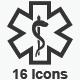 Healthcare Symbols - Gray Version - GraphicRiver Item for Sale