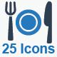 Restaurant Service Icons - Blue Version - GraphicRiver Item for Sale