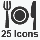 Restaurant Service Icons - Gray Version - GraphicRiver Item for Sale