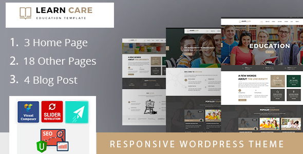 LearnCare Educational WordPress Theme