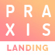 Praxis App Landing PSD Template - ThemeForest Item for Sale
