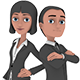 Adam & Amy - Rigged Explainer Video Style Business Characters - 3DOcean Item for Sale