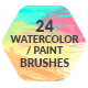 24 Watercolor Paint Photoshop / Procreate Brushes - GraphicRiver Item for Sale