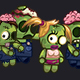 Four Zombies Characters Sprite Sheets - GraphicRiver Item for Sale