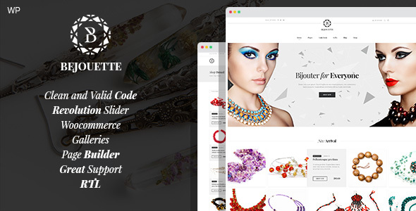 Bejouette - Handmade Jewelry Designer WordPress Theme