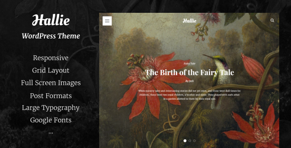 Hallie - WordPress Theme for Writers