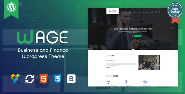 Wage - Business and Finance WordPress Theme