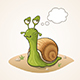 Cartoon Snail on the Ground - GraphicRiver Item for Sale