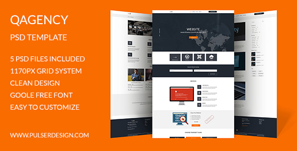 QAgency PSD Template