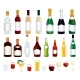 Various Isolated Alcohol Bottles Vector Clip Art - GraphicRiver Item for Sale