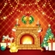 Festive Xmas Interior with Fireplace - GraphicRiver Item for Sale