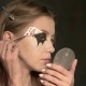 Beautiful Girl Doing Makeup Before the Holiday Halloween - VideoHive Item for Sale