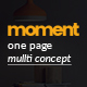 Moment One Page Corporate and Business Template - ThemeForest Item for Sale