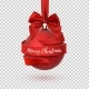 Merry Christmas Tree Decoration with Red Bow - GraphicRiver Item for Sale