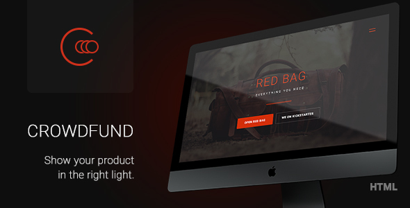 Crowdfund - Multipurpose Marketing Template for Promote Startups, Services and Crowdfunding