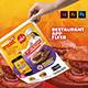 Restaurant App Flyer - GraphicRiver Item for Sale