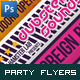 Modern Clean Party Flyers / Club Posters - GraphicRiver Item for Sale
