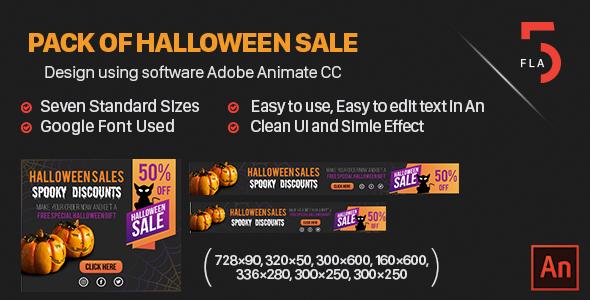 Pack of Halloween Sale - HTML -  Adobe Animate CC