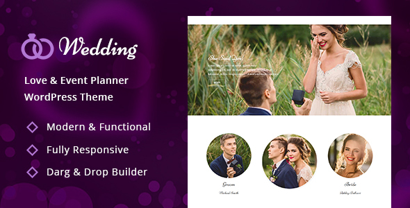 Wedding - Engagement & Marriage Planner WordPress Theme