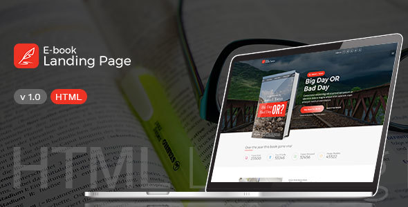 Book Landing Page - for E-Books and Books Authors
