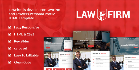 LawFirm - Lawyers Html Template