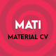 MATi   Material CV/Resume - ThemeForest Item for Sale