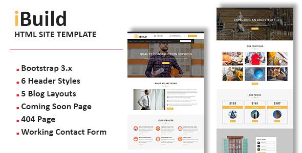 iBuild - Multipurpose Responsive HTML Site Template
